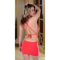 Terry Pau TP112111 Arkası Çapraz Dökümlü Elbise